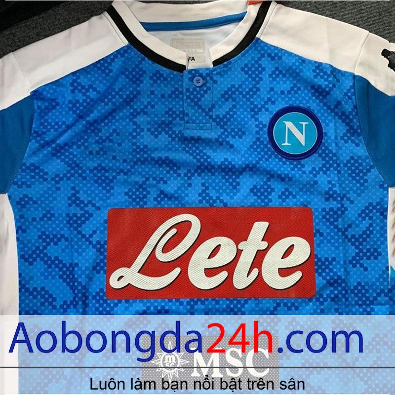 Áo bóng đá Napoli 2019-2020 sân nhà màu xanh dương
