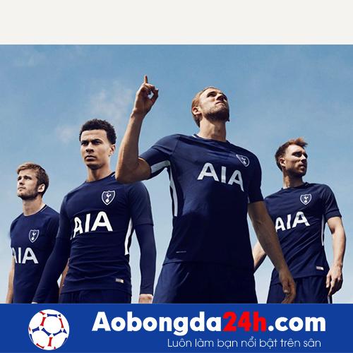 Áo đấu Tottenham 2017-2018 Sân khách xanh thẫm