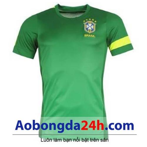 Áo bóng đá Brazil xanh sân khách 2013-2014
