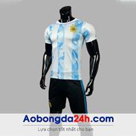 Áo Argentina Worldcup 2021 - 2022 sân nhà sọc trắng xanh