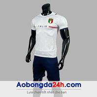Áo Italia Worldcup 2022 màu trắng sân khách