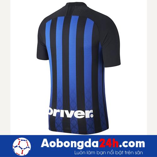 Áo Inter Milan 2018-2019 sân nhà đen sọc xanh-mặt lưng