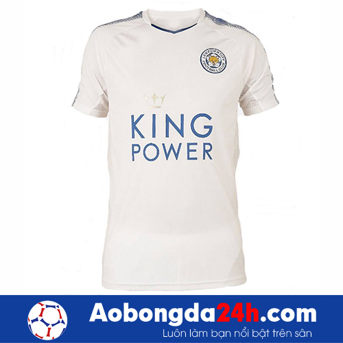 Áo Leicester City 2017-2018 màu trắng (mẫu 3)