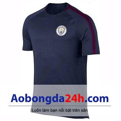Áo đá banh Man City 2016-2017 Training xanh đen