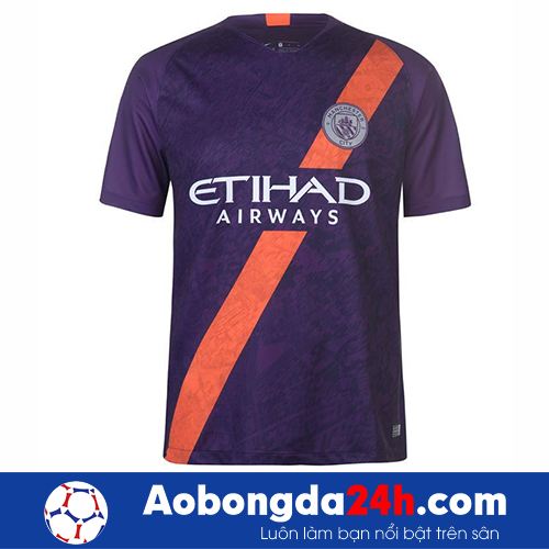 Áo đá bóng Manchester City 2018-2019 mẫu 3 màu tím