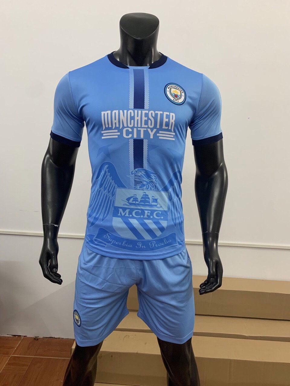 Áo Man City 2019-2020 sân nhà màu xanh da trời