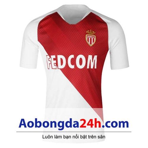 Áo Monaco 2018-2019 sân nhà đỏ trắng