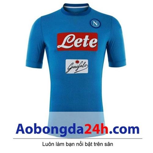 Áo đá banh Napoli 2017-2018 sân nhà màu xanh