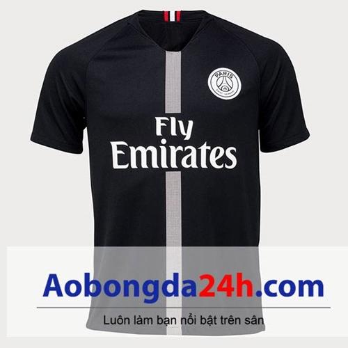 Áo Paris Saint Germain 2018-2019 mẫu 3 màu đen