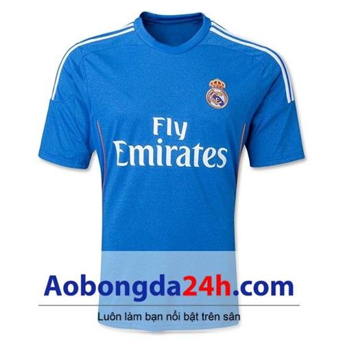 Áo CLB Real Madrid 2013-2014 sân nhà xanh dương