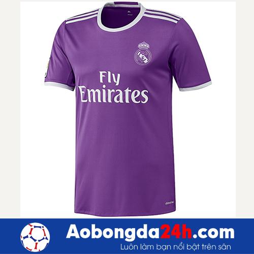 Áo bóng đá Real 2016-2017 màu tím