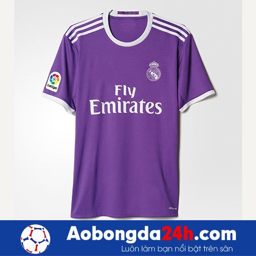 Áo Real Madrid 2016-2017 sân khách màu tím