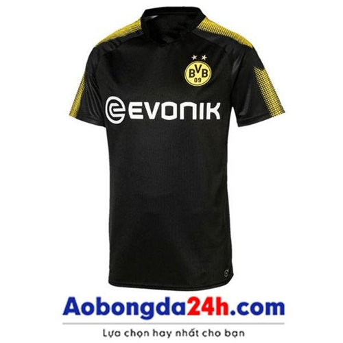 Áo đá bóng Dortmund 2017-2018 sân khách màu đen