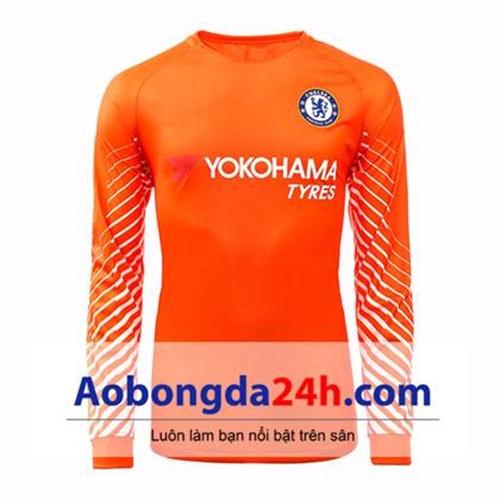 Áo thủ môn Chelsea 2017-2018 màu cam