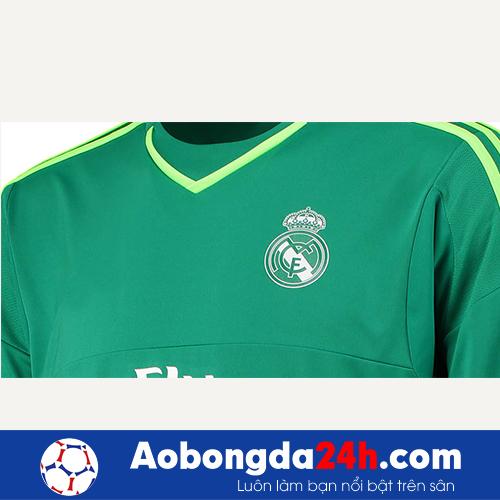 Áo thủ môn Real Madrid màu xanh lá cây