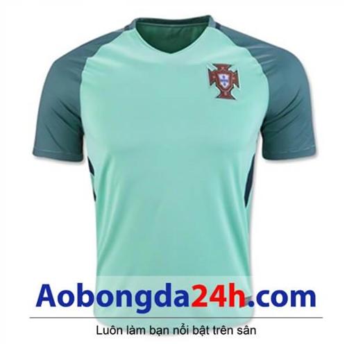 Áo Bồ Đào Nha Euro 2016 Sân khách xanh