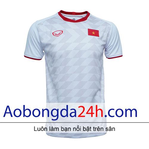 Áo bóng đá Việt Nam 2019 sân khách màu trắng