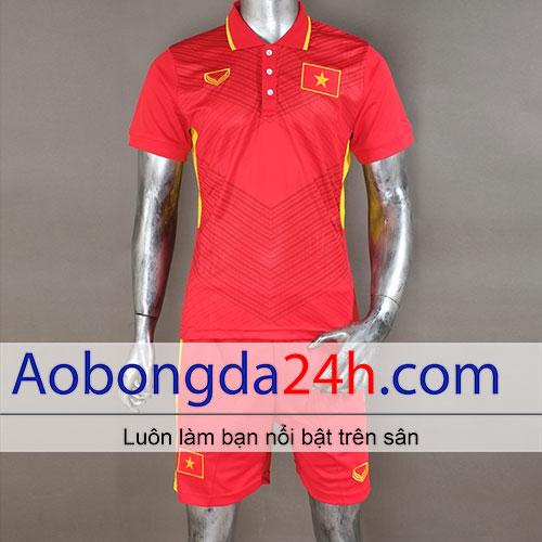 Áo Việt Nam 2017 - 2018 áo đấu màu đỏ Sân nhà