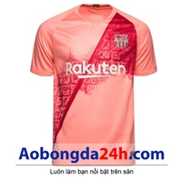 Áo đấu Bacelona 2018-2019 mẫu thứ 3 màu hồng