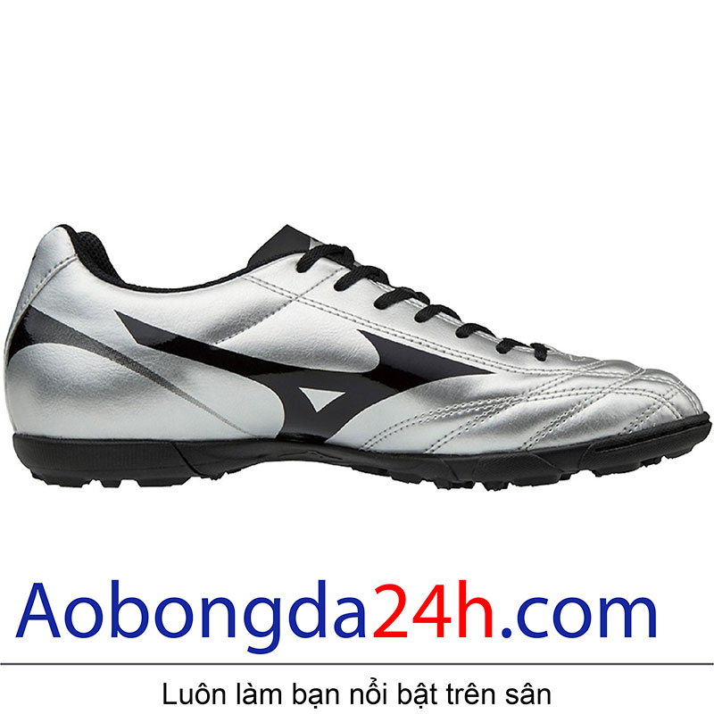 Thân giầy bóng đá Mizuno Monarcida 2 FS Bạc Đen