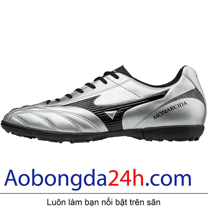 Thân bên phải giầy bóng đá Mizuno Monarcida 2 FS Bạc Đen