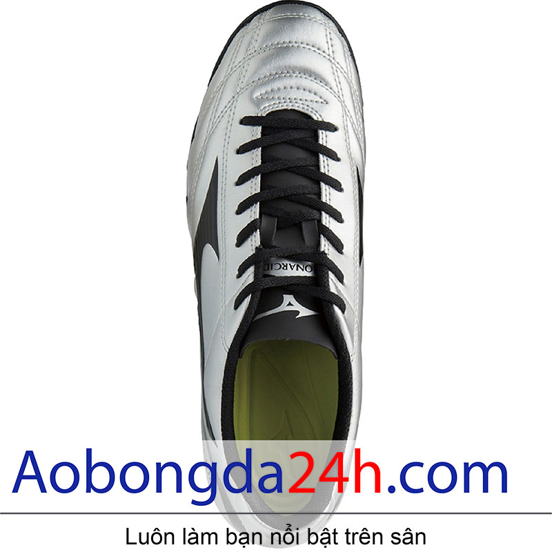 Lót giầy bóng đá Mizuno Monarcida 2 FS Bạc Đen