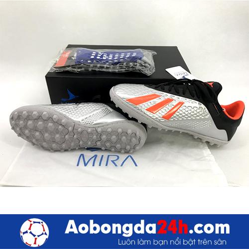 Giầy bóng đá Mira MR05 TF màu Bạc cam -4