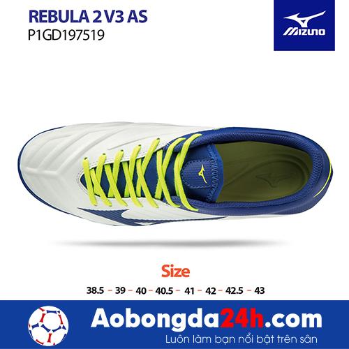 Giầy bóng đá Mizuno REBULA 2V3 AS màu Trắng -2