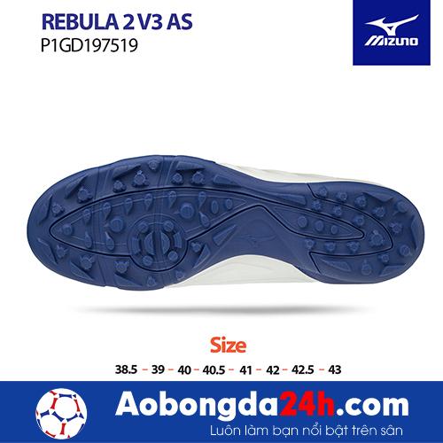 Giầy bóng đá Mizuno REBULA 2V3 AS màu Trắng -3