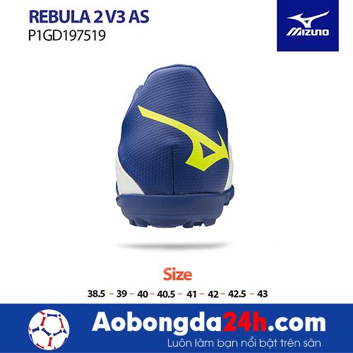 Giầy bóng đá Mizuno REBULA 2V3 AS màu Trắng -4