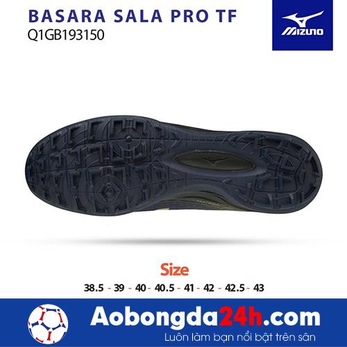 Giầy bóng đá Mizuno Basara Sala Pro TF đen vàng -2