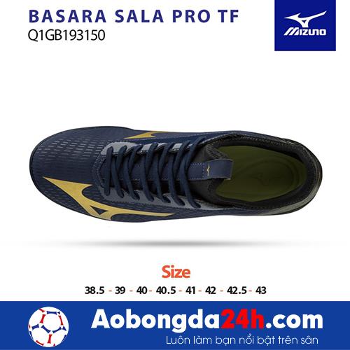Giầy bóng đá Mizuno Basara Sala Pro TF đen vàng -3