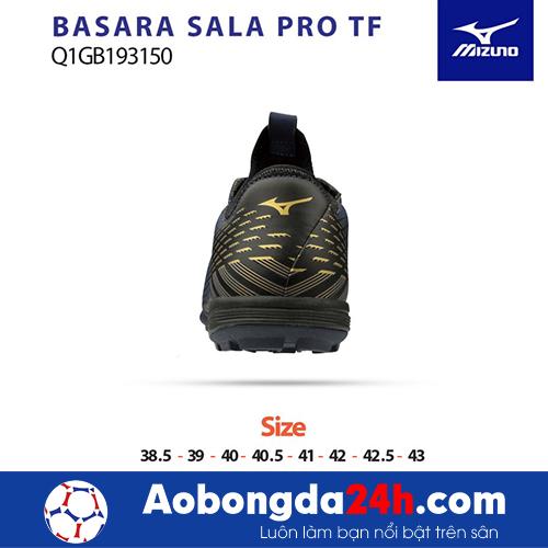 Giầy bóng đá Mizuno Basara Sala Pro TF đen vàng -4