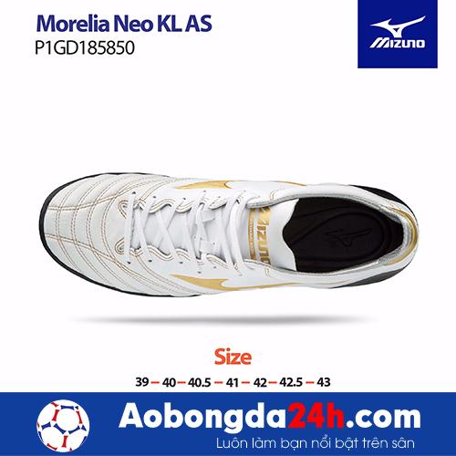 Giầy bóng đá Mizuno Morelia NEO KL AS màu Trắng -3
