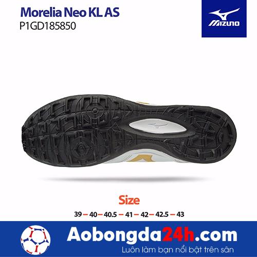 Giầy bóng đá Mizuno Morelia NEO KL AS màu Trắng -4