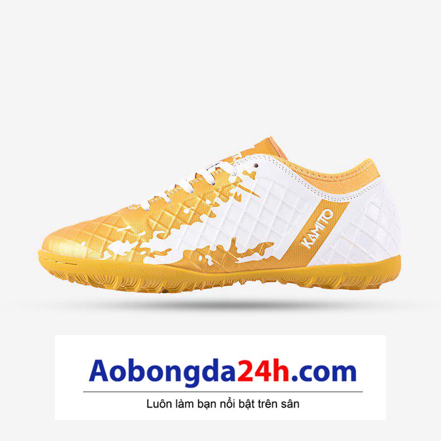 Giày bóng đá Kamito QH 19 màu vàng trắng