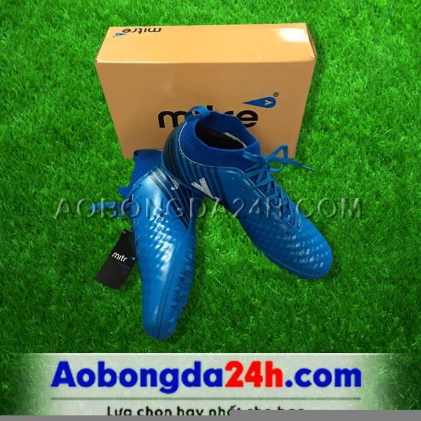 Giày đá bóng Mitre 170437 xanh dương cổ thun cao - 01