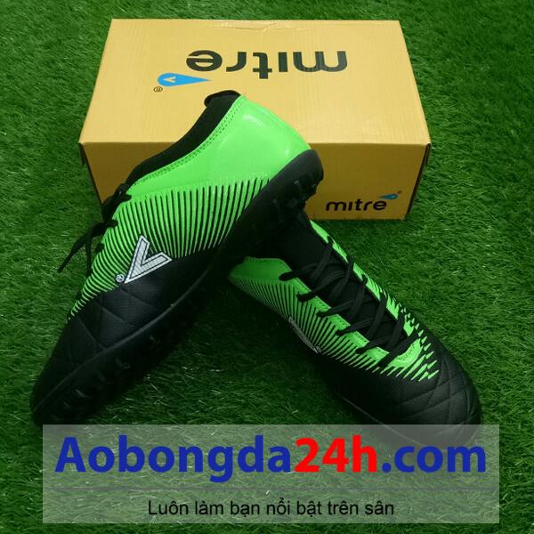 Giày đá bóng Mitre 161110 màu xanh lá cổ thấp - 1