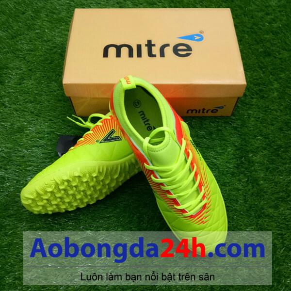 Giày đá bóng Mitre 161110 cổ ngắn màu vàng chanh-1