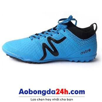 Giày đá bóng Mitre 160603 cổ cao đinh TF xanh da trời-01