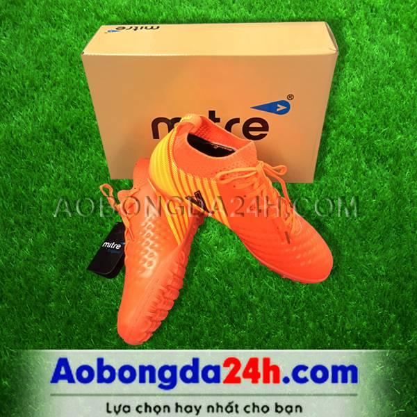 Giày đá bóng 170434 màu cam cổ cao 01