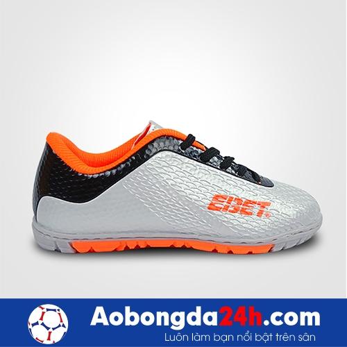 Giầy bóng đá trẻ em EBET EB 6302 thấp cổ - Màu Bạc