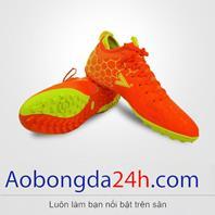 Giày đá bóng Mitre 181045 cao cổ màu cam