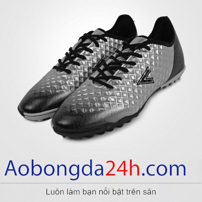 Giày đá bóng Mitre 180204B cổ thấp màu bạc - ảnh 1