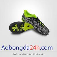 Giày đá bóng EBET trẻ em 6312 màu xám cổ xanh chính hãng Động Lực