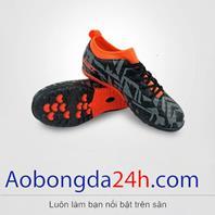 Giày đá bóng EBET trẻ em 6312 màu xám cổ cam chính hãng Động Lực