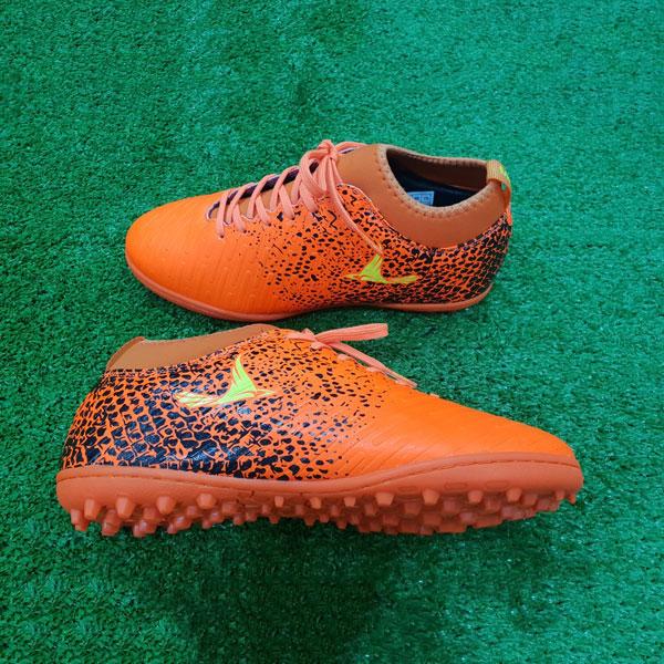 Giày Mira 02 màu cam chính hãng, đinh TF, da PU chống nước-4