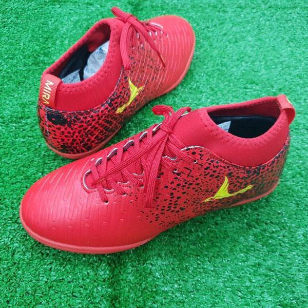 Giày Mira 02 (MR02) màu đỏ ngọc, đinh TF, da PU chống nước-03