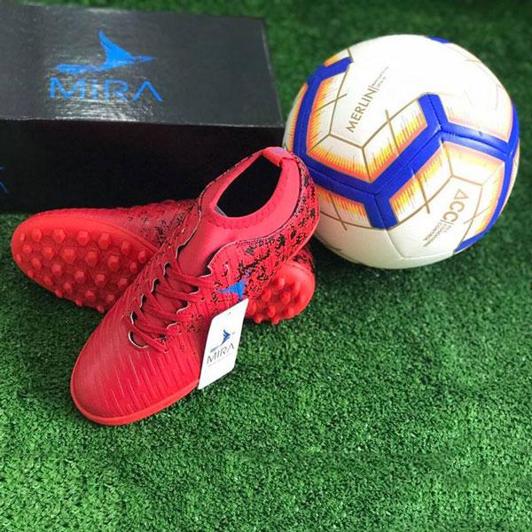 Giày Mira 02 (MR02) màu đỏ ngọc, đinh TF, da PU chống nước 04
