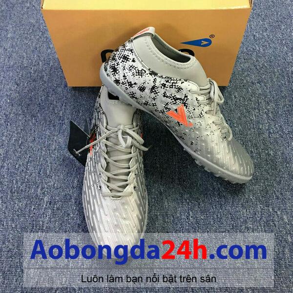 Giày bóng đá Mitre 170501 cao cổ màu bạc-01